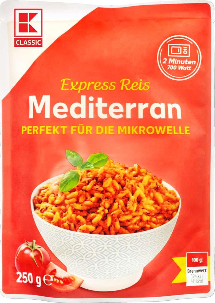 Abbildung des Sortimentsartikels K-Classic Mediterraner Reis für die Mikrowelle 250g
