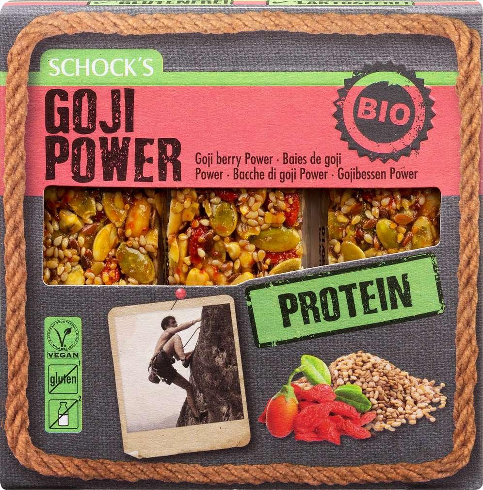 Abbildung des Sortimentsartikels Schock Bio-Proteinriegel Goji Power 3x25g