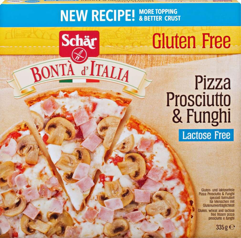 Abbildung des Sortimentsartikels Schär Bontà d' Italia Pizza Prosci.&Funghi glutenfrei 335g