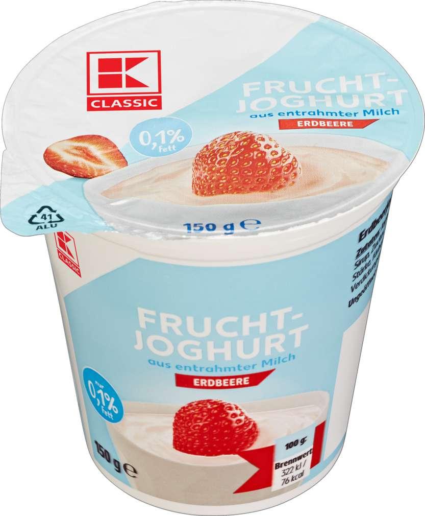 Abbildung des Sortimentsartikels K-Classic Fruchtjoghurt Erdebbere 0,1% 150g