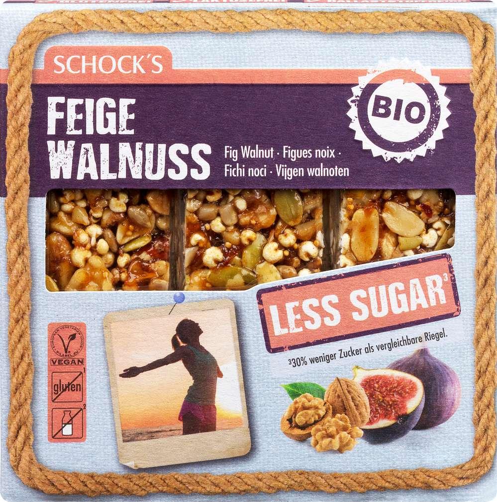 Abbildung des Sortimentsartikels Schock Bio-Riegel LessSugar Feige/Walnuss 3x25g
