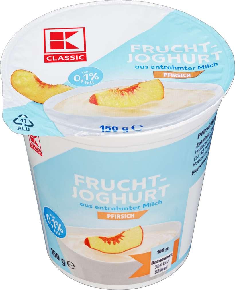 Abbildung des Sortimentsartikels K-Classic Fruchtjoghurt Pfirsich 0,1% 150g