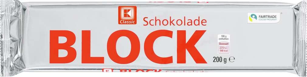 Abbildung des Sortimentsartikels K-Classic Blockschokolade Zartbitter 200g