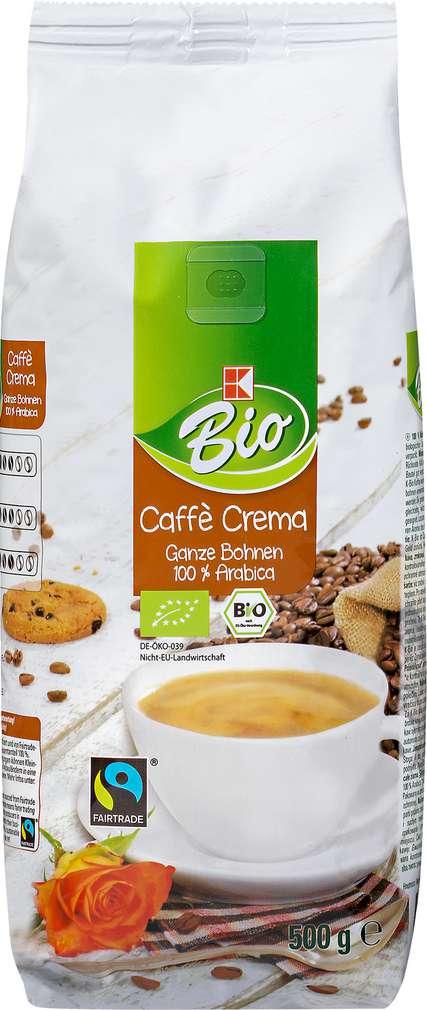 Abbildung des Sortimentsartikels K-Bio Caffè Crema Ganze Bohnen 500g