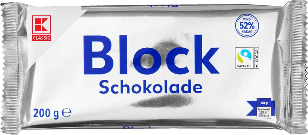 Abbildung des Sortimentsartikels K-Classic Blockschokolade 200g