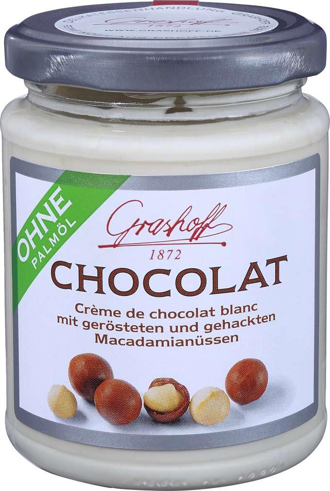 Abbildung des Sortimentsartikels Grashoff Weiße Schokoladencrème Macadamia 235g