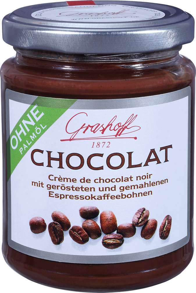 Abbildung des Sortimentsartikels Grashoff Dunkle Schokoladencrème Espresso 250g