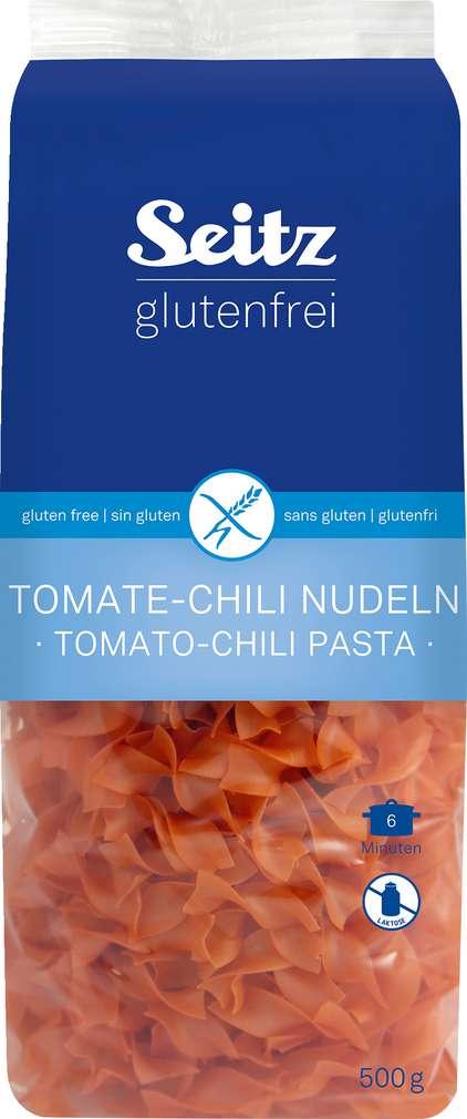 Abbildung des Sortimentsartikels Seitz glutenfrei Bandnudeln Tomaten-Chili 500g