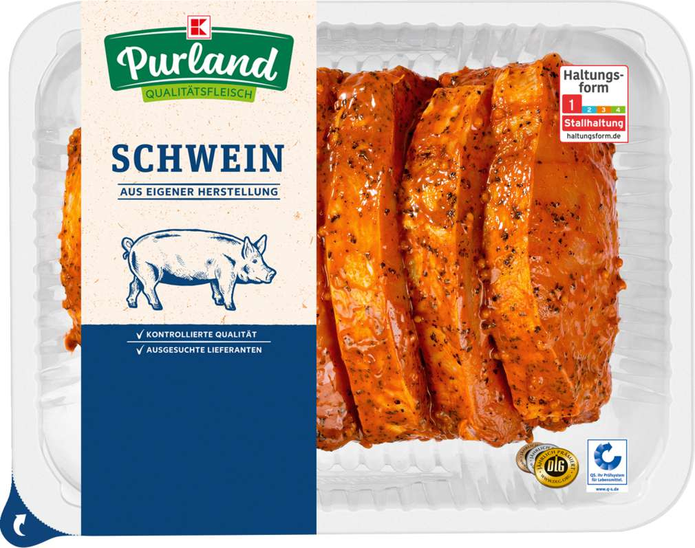 Abbildung des Sortimentsartikels K-Purland Schweinerückensteak mariniert, 6 Stück