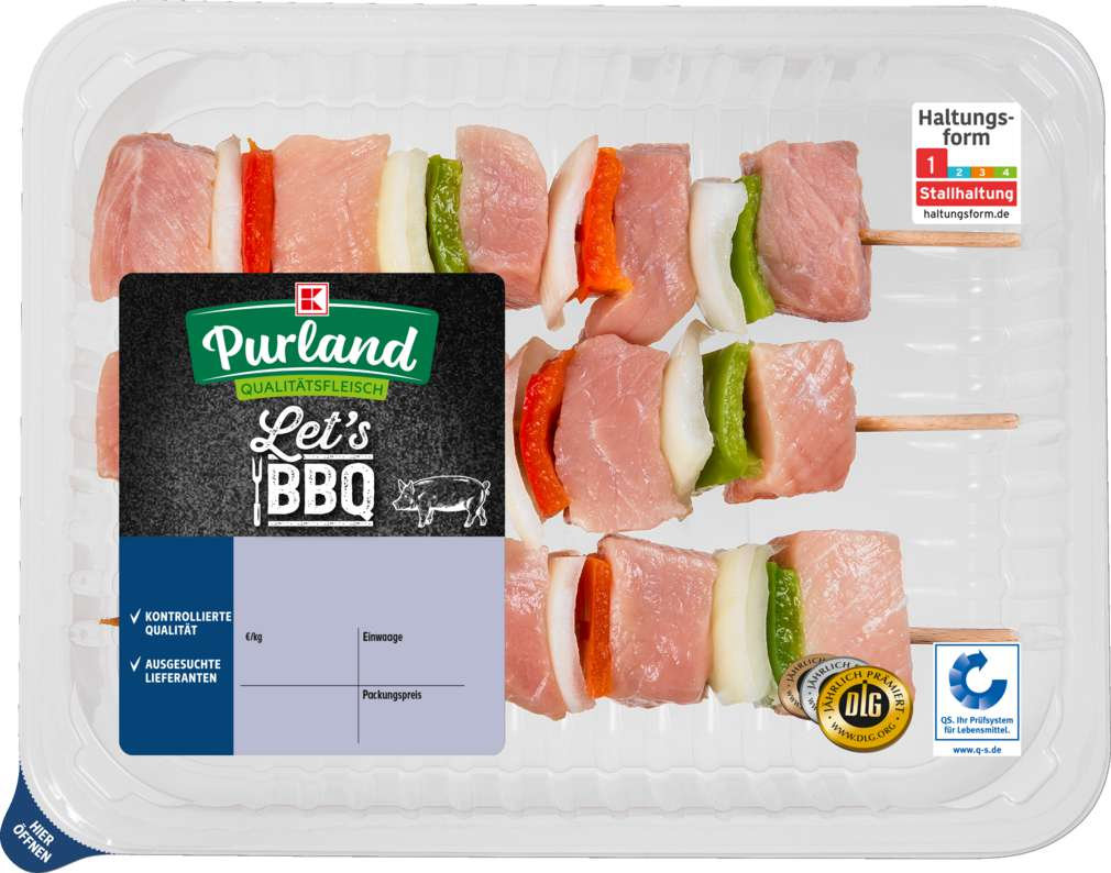 Abbildung des Sortimentsartikels K-Purland Fleischspiesse vom Schwein 500g