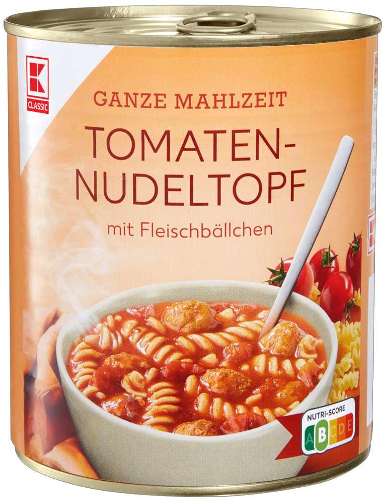 Abbildung des Sortimentsartikels K-Classic Tomaten-Nudelntopf Fleischbällchentopf 800g