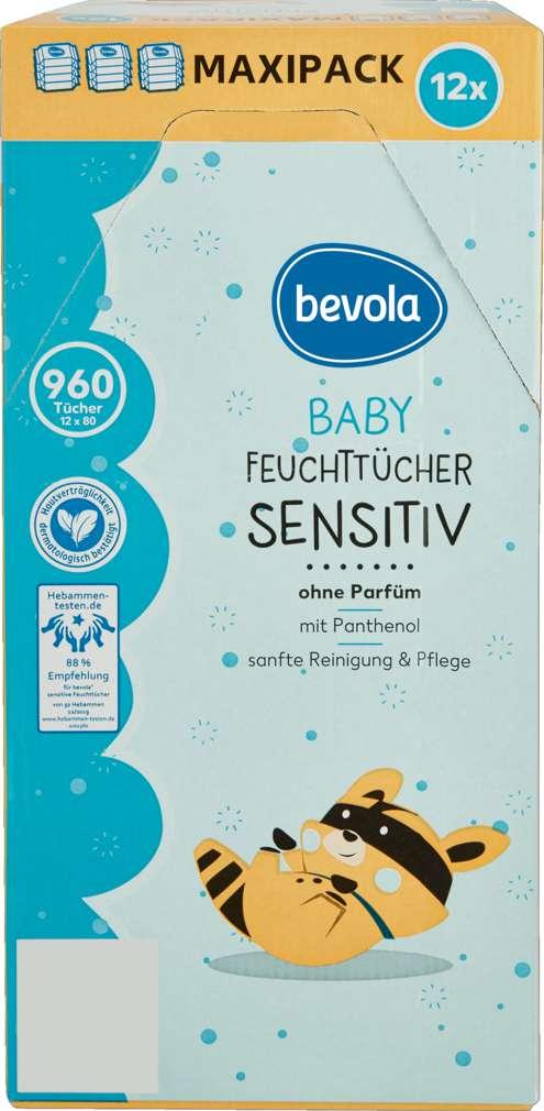 Abbildung des Sortimentsartikels Bevola Baby Feuchttücher Sensitiv 12x80 St
