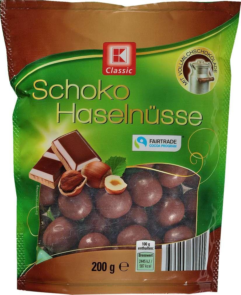 Abbildung des Sortimentsartikels K-Classic Schoko-Haselnüsse 200g