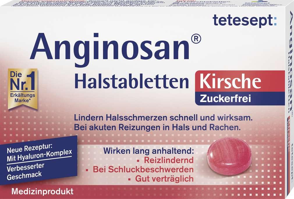 Abbildung des Sortimentsartikels Tetesept Anginosan Kirsche zuckerfrei 20 Stück