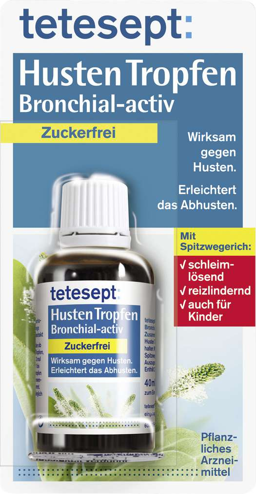 Abbildung des Sortimentsartikels Tetesept Hustentropfen zuckerfrei 40ml