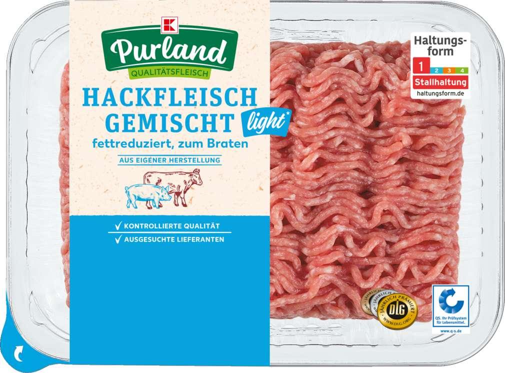 Abbildung des Sortimentsartikels K-Purland Hackfleisch fettreduziert gemischt 500g
