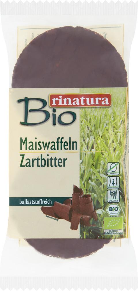 Abbildung des Sortimentsartikels Rinatura Maiswaffeln Zartbitter 95g
