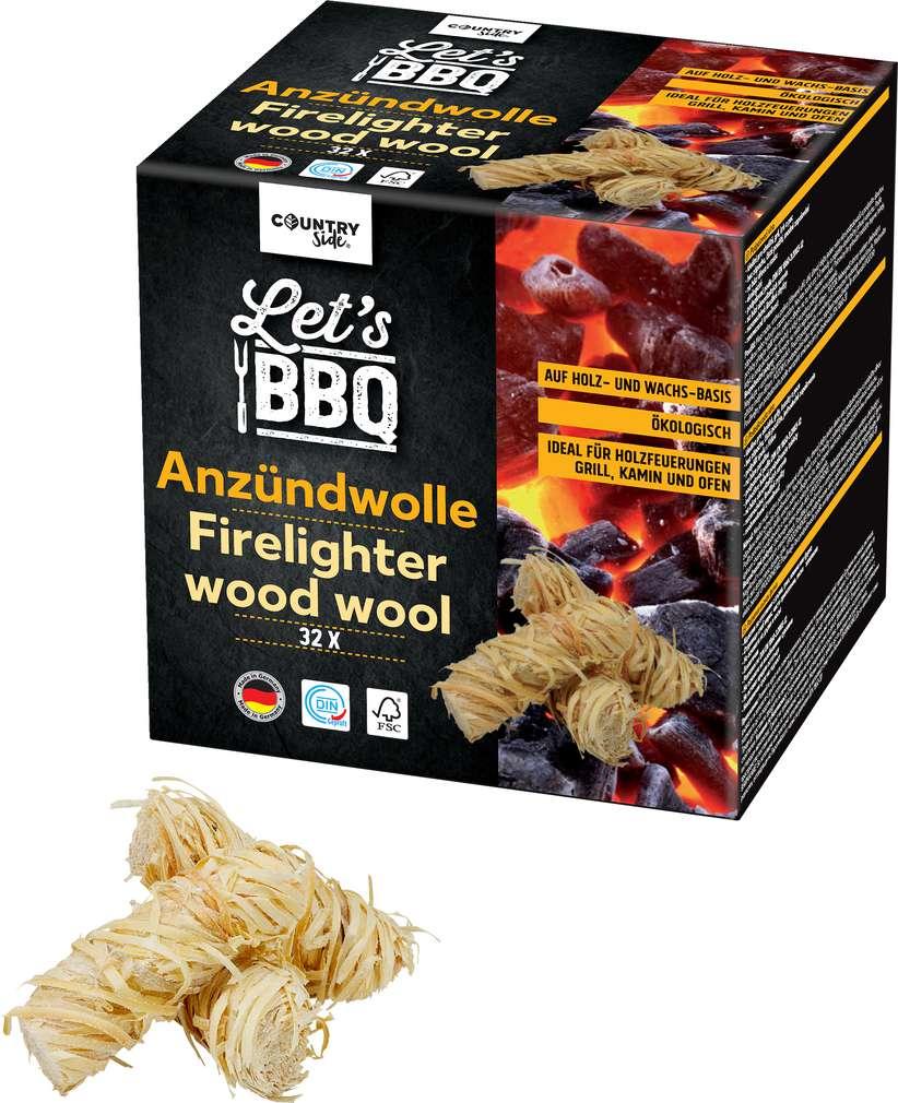 Abbildung des Sortimentsartikels Countryside Let's BBQ Öko Anzündwolle 32 Stück