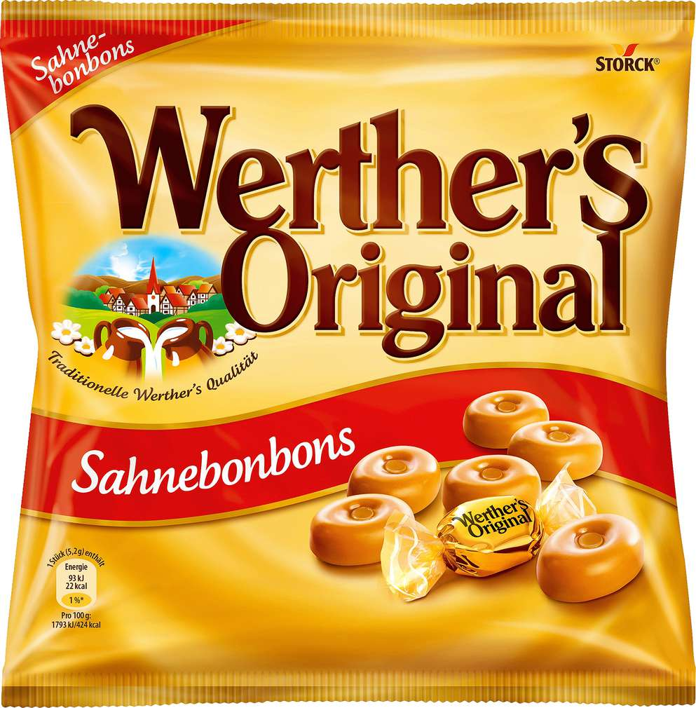 Abbildung des Sortimentsartikels Werther's Original Sahnebonbons 245g