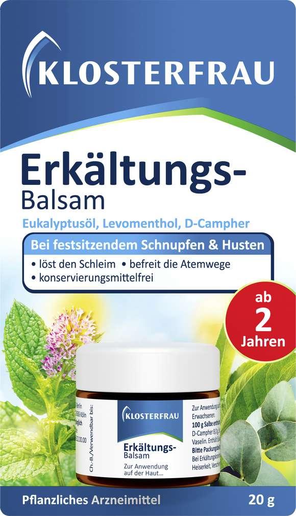 Abbildung des Sortimentsartikels Klosterfrau Erkältungs-Balsam 20g