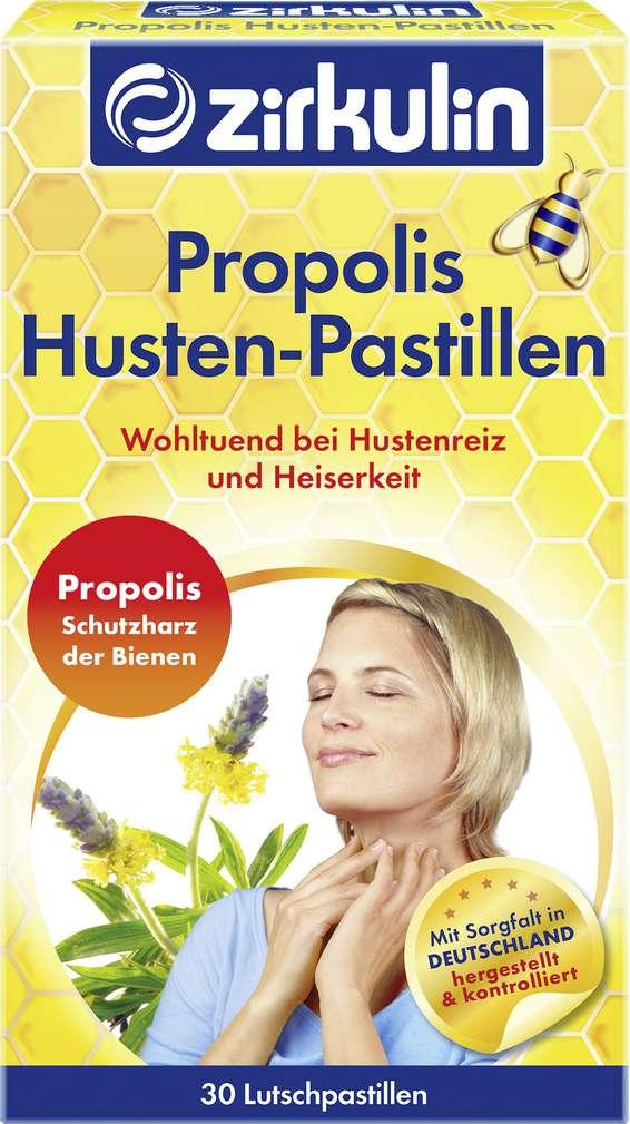 Abbildung des Sortimentsartikels Zirkulin Propolis Husten-Pastillen 30 Stück