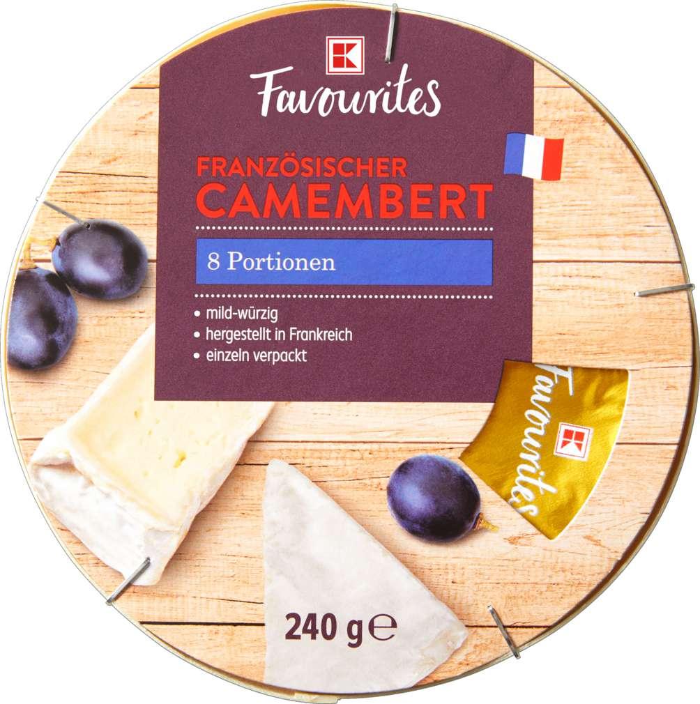 Abbildung des Sortimentsartikels K-Favourites Camembert Portionen 45% Fett i.Tr. 240g