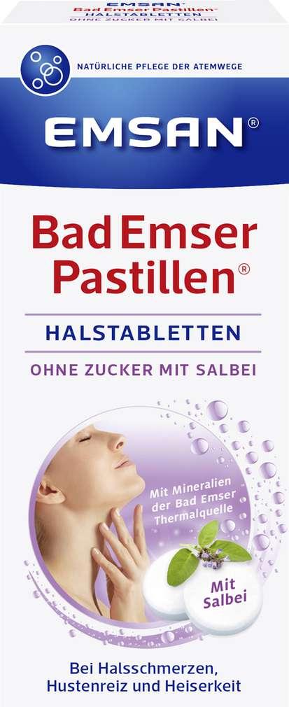 Abbildung des Sortimentsartikels Emsan Bad Emser Pastillen mit Salbei 30 Stück