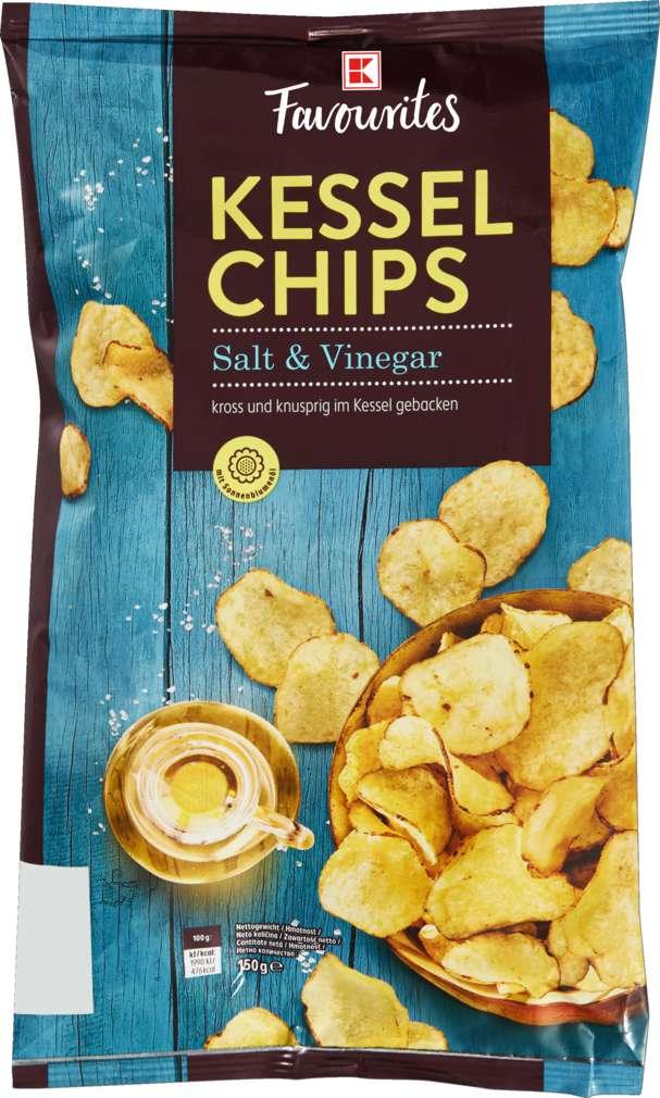 Abbildung des Sortimentsartikels K-Favourites Kesselchips Salt & Vinegar 150g