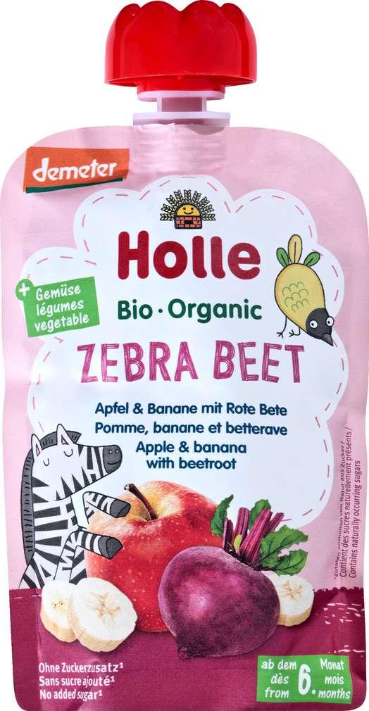 Abbildung des Sortimentsartikels Holle Demeter QB Apfel/Banane/Rote Bete ab dem 6. Monat 100g