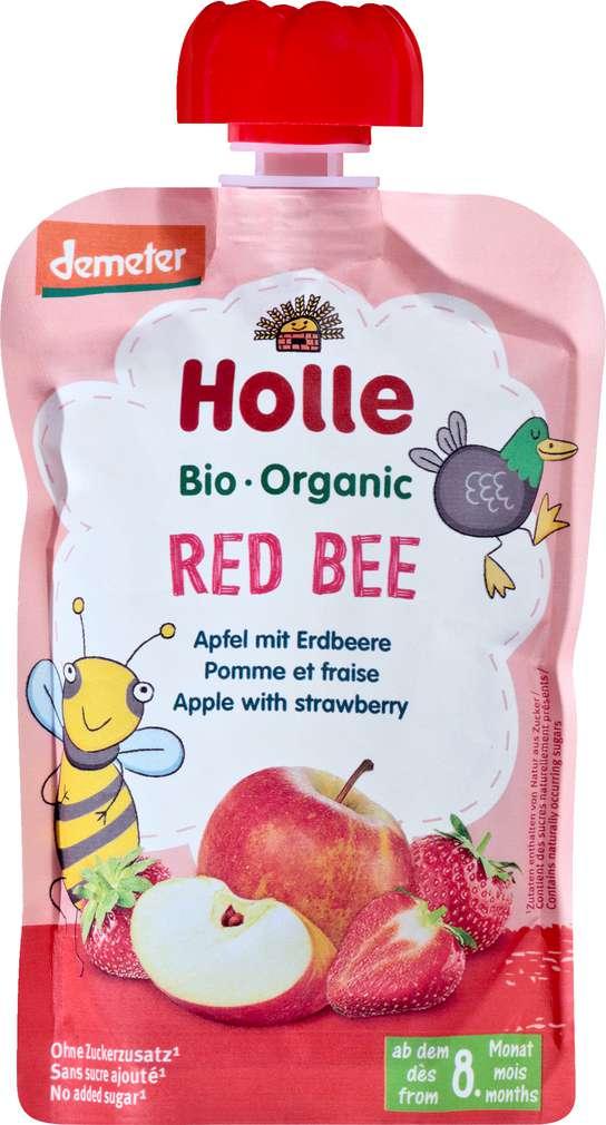Abbildung des Sortimentsartikels Holle Demeter QB Apfel/Erdbeere ab dem 8. Monat 100g