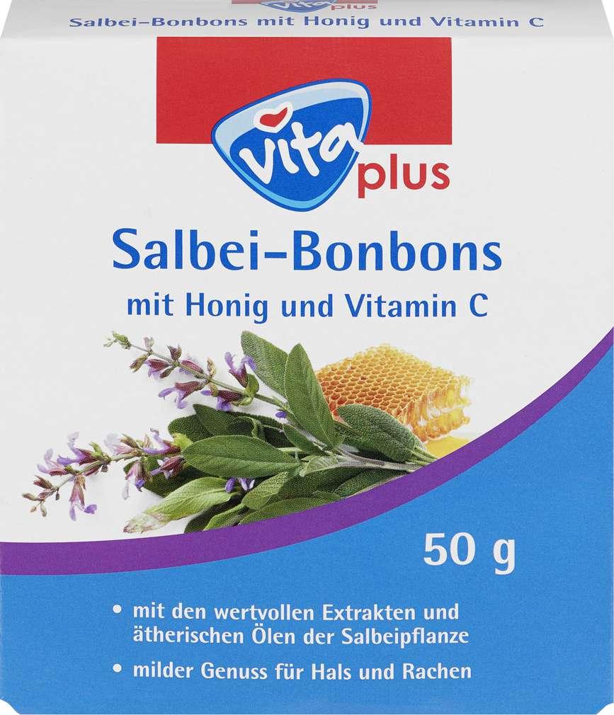 Abbildung des Sortimentsartikels Vita plus Salbei-Bonbons 50g