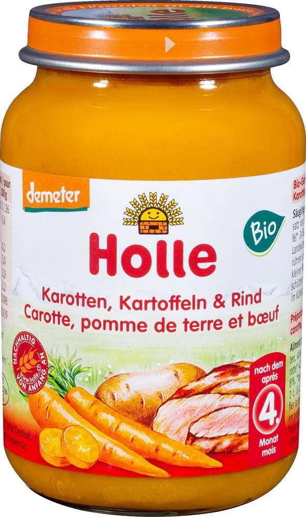 Abbildung des Sortimentsartikels Holle Demeter Karotte Kartoffel Rind nach dem 4. Monat 190g