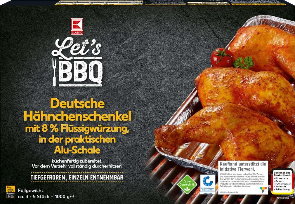 Abbildung des Sortimentsartikels K-Classic Let's BBQ Hähnchenschenkel Grillpfanne 1000g