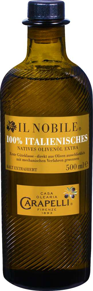 Abbildung des Sortimentsartikels Carapelli il Nobile extra nativ 100% Italienisches Oliven-Öl 500ml