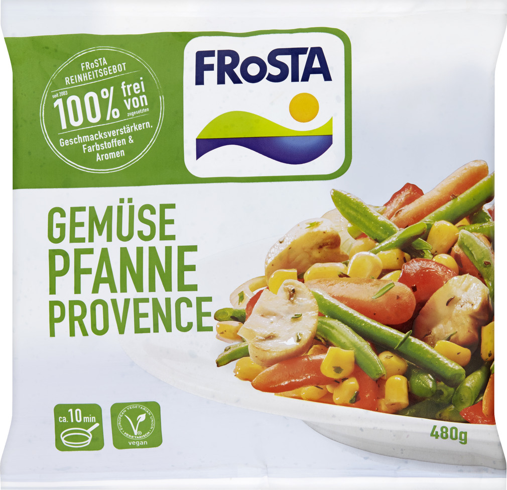 Abbildung des Sortimentsartikels Frosta Gemüsepfanne Provence 480g
