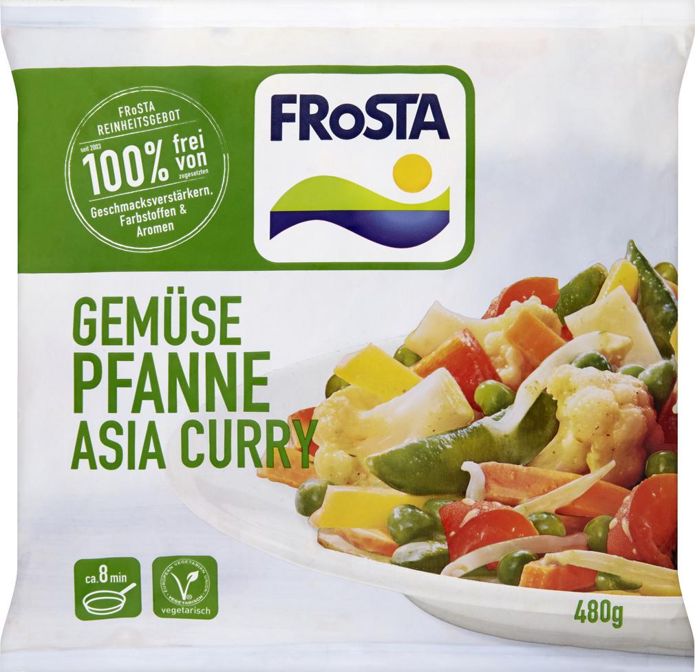 Abbildung des Sortimentsartikels Frosta Gemüsepfanne Asia Curry 480g