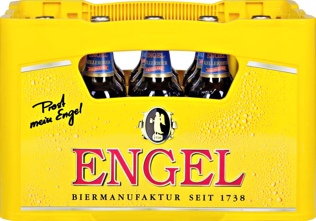 Abbildung des Sortimentsartikels Engel BIO Kellerbier Alkoholfrei 15x0,5l