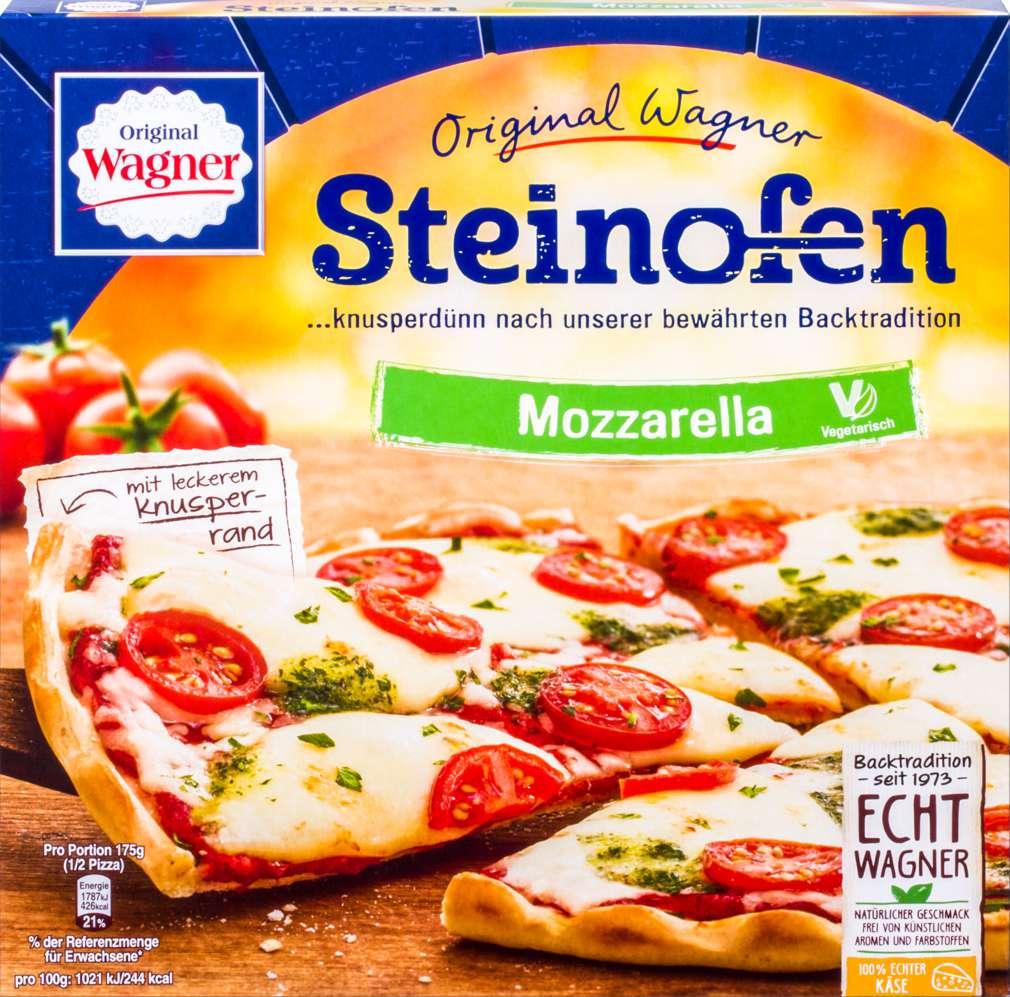 Abbildung des Sortimentsartikels Original Wagner Steinofen Pizza Mozzarella 350g