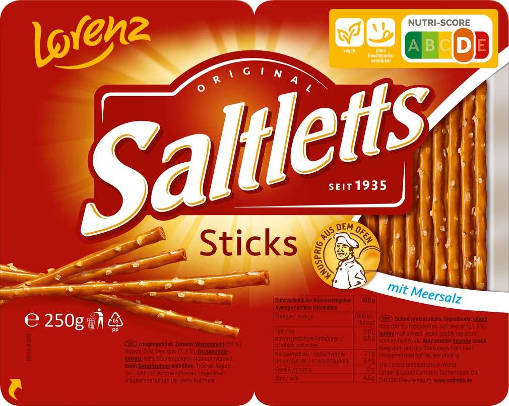 Abbildung des Sortimentsartikels Lorenz Saltletts Salzstangen 250g