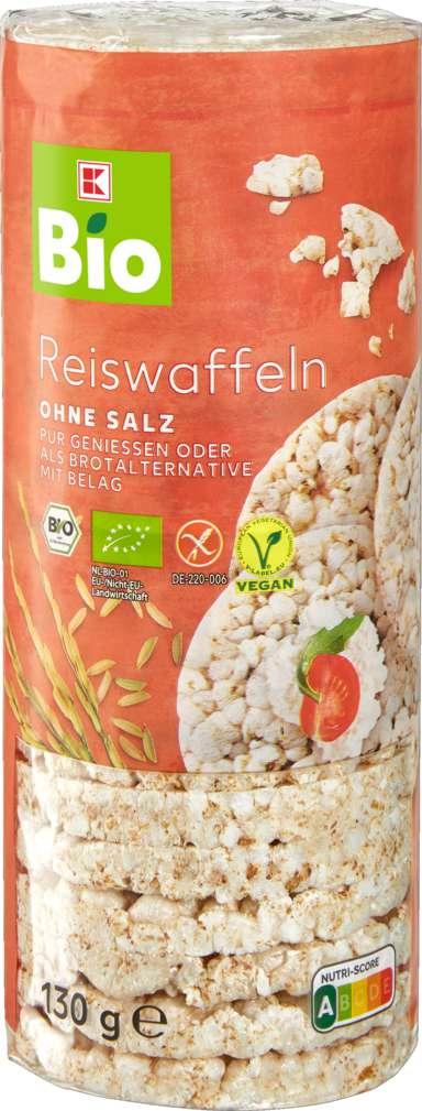 Abbildung des Sortimentsartikels K-Bio Reiswaffeln ohne Salz 130g