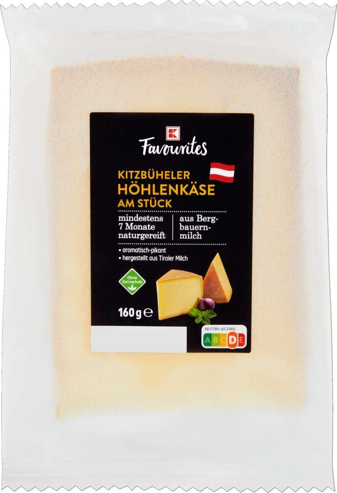 Abbildung des Sortimentsartikels K-Favourites Kitzbühler Höhlenkäse am Stück 160g