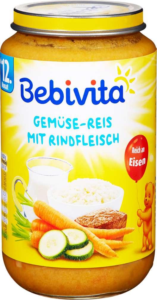 Abbildung des Sortimentsartikels Bebivita Gemüse-Reis mit Rindfleisch 250g