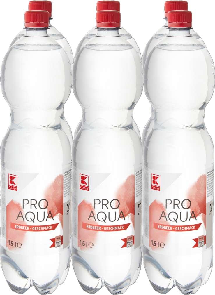 Abbildung des Sortimentsartikels K-Classic Pro Aqua Erdbeere 6x1,5l