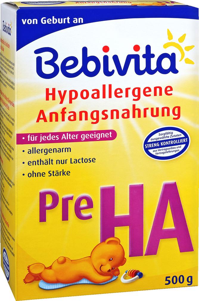 Abbildung des Sortimentsartikels Bebivita Hypoallergene Anfangsnahrung Pre HA 500g