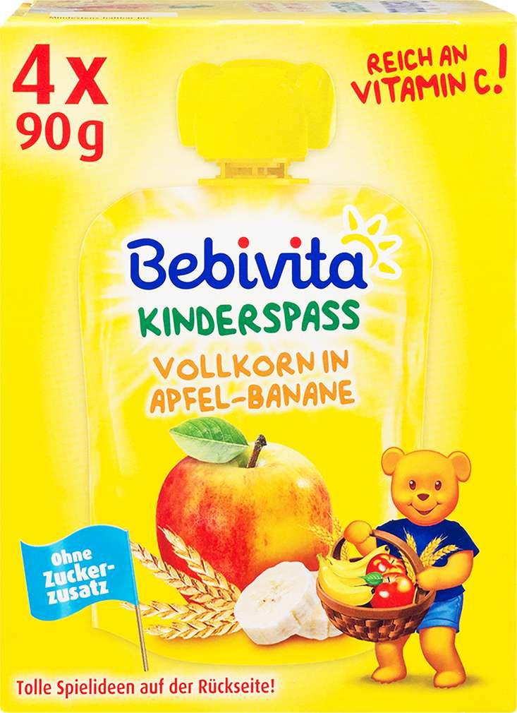 Abbildung des Sortimentsartikels Bebivita Kinder Spaß Vollkorn in Apfel-Banane 4x90g