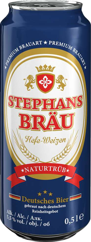Abbildung des Sortimentsartikels Spirituose; Bier Hefeweizen 0,5l Dose