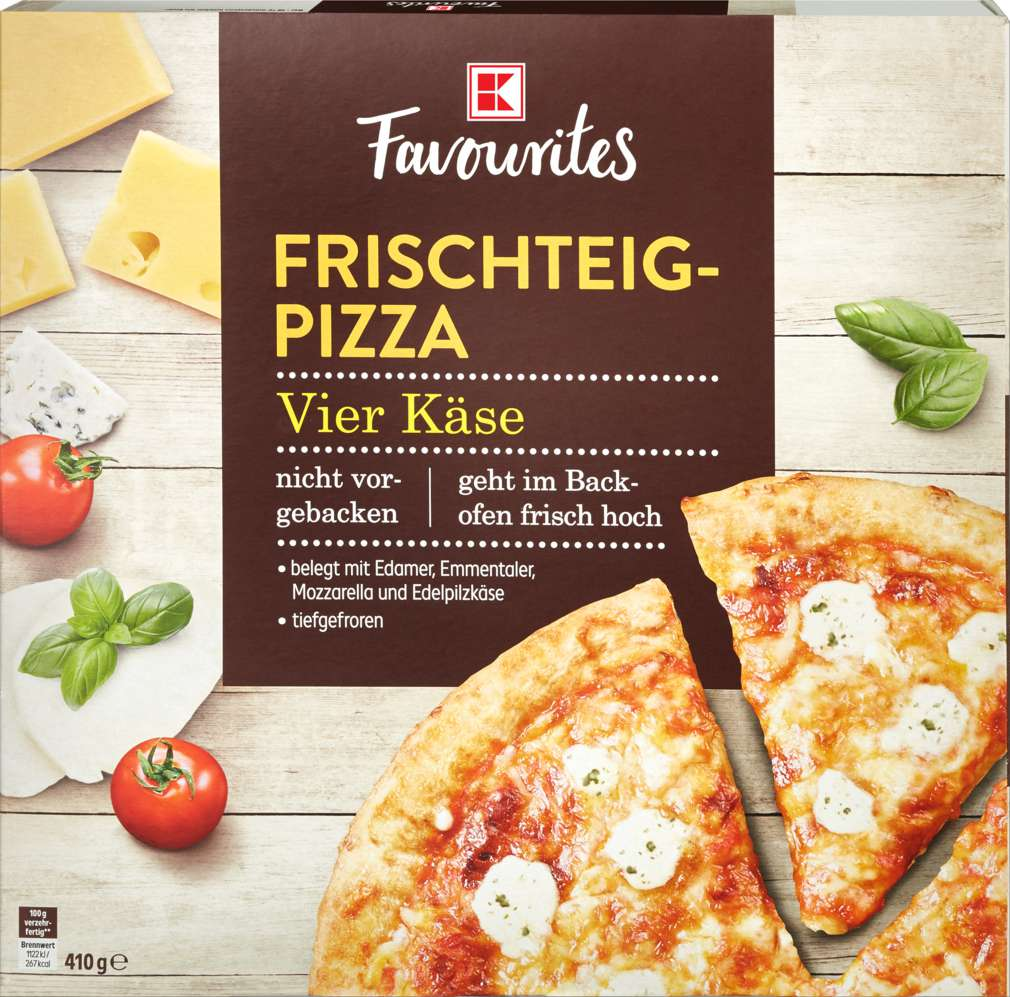 Abbildung des Sortimentsartikels K-Favourites Frischteig-Pizza 4-Käse 410g