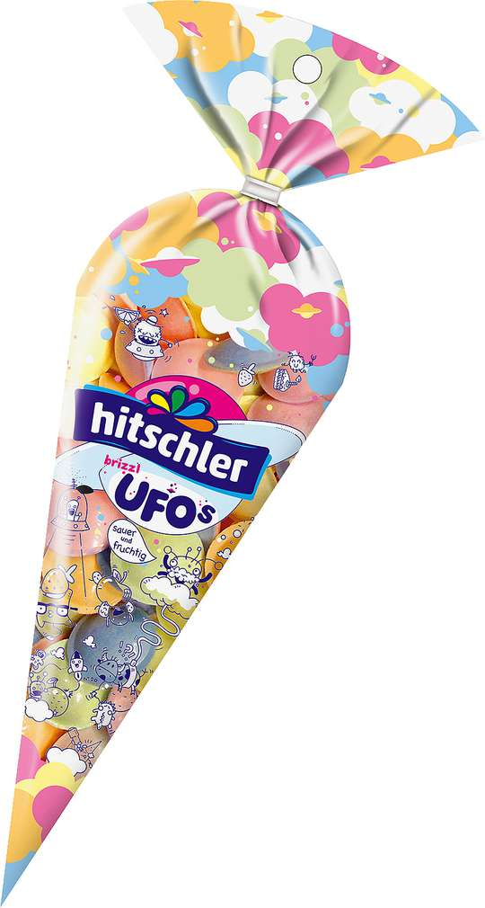 Abbildung des Sortimentsartikels Hitschler Brause Flummis Sauer & Fruchtig 75g