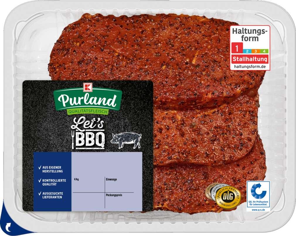 Abbildung des Sortimentsartikels K-Purland Let´s BBQ Hüftsteak Pfeffer Style vom Schwein 3 Stück