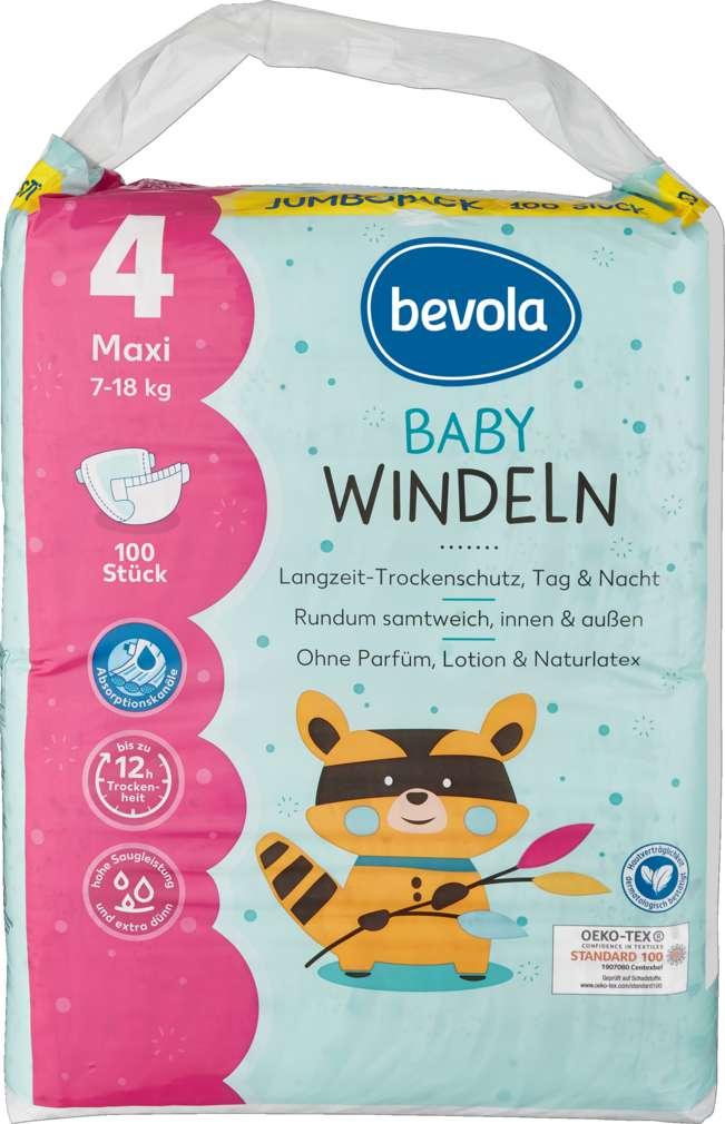 Abbildung des Sortimentsartikels Bevola Windeln Gr. Maxi Jumbopack 100 St